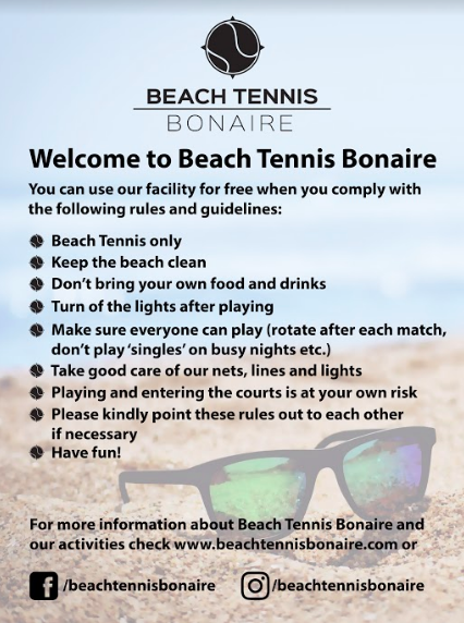 Rules Beach Tennis Bonaire
